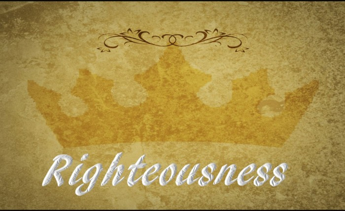 God Works Righteousness forAll