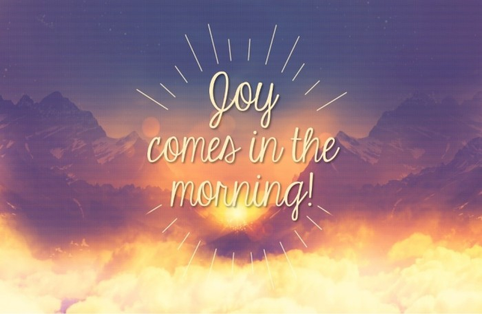 Joy Comes in theMorning