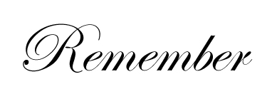 The Importance ofRemembering