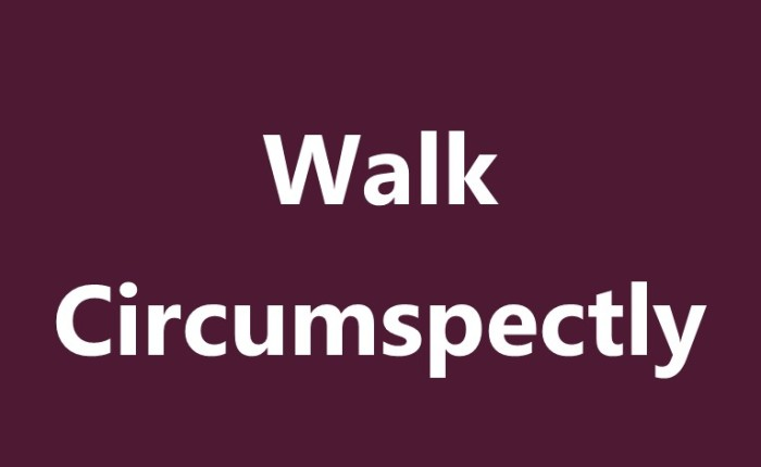Walk Circumspectly