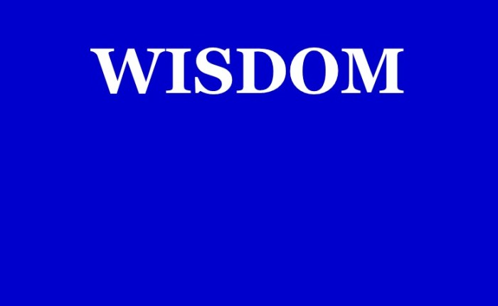 Wisdom is ProvenRight
