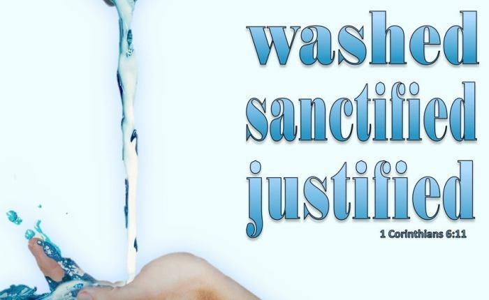 We Were Washed &Sanctified