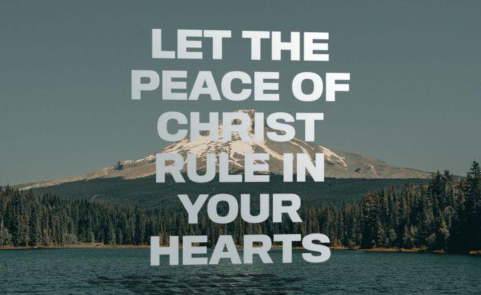 Peace Must Rule