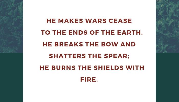 God Makes WarsCease
